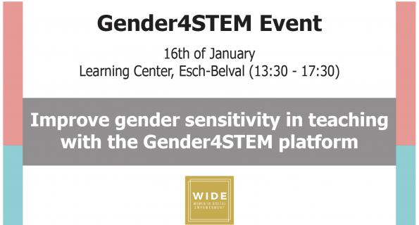 Improve Gender sensitivity in STEM teaching with Gender4Stem platform